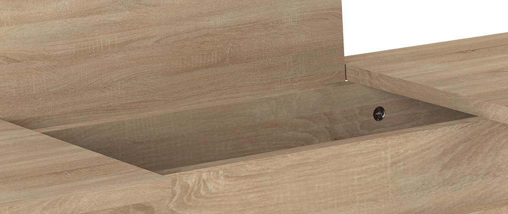 Console design legno e metallo nero LUMY