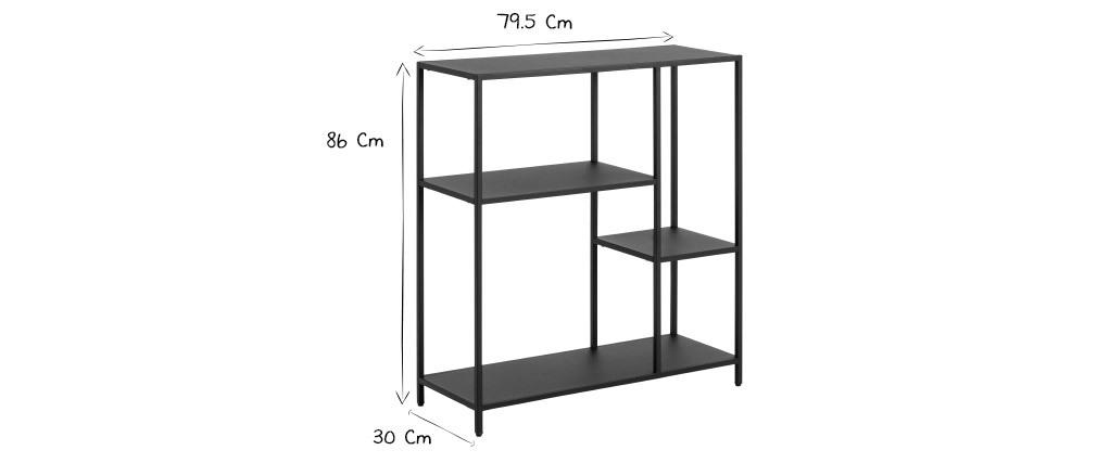 Console di design in metallo nero L80 cm PODIUM