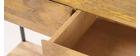 Console industriale legno di mango e metallo 110cm YPSTER