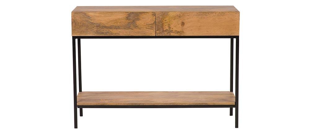 Console industriale legno di mango e metallo L110 cm YPSTER