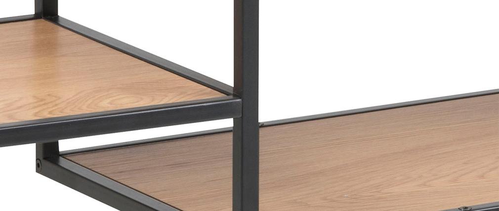 Console industriale metallo nero e legno TRESCA