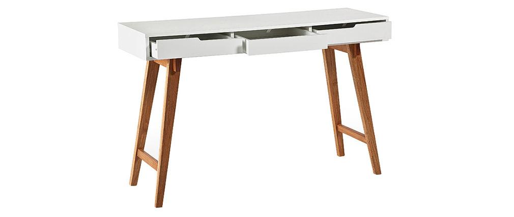 Console scandinava legno e bianco ESKA