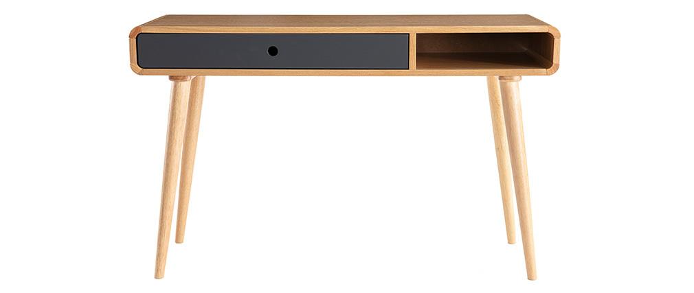 Console-scrivania scandinava rovere chiaro e grigio COPENHAGUE