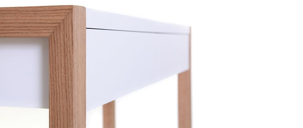 Consolle design 120 colore bianco finiture quercia ARMEL