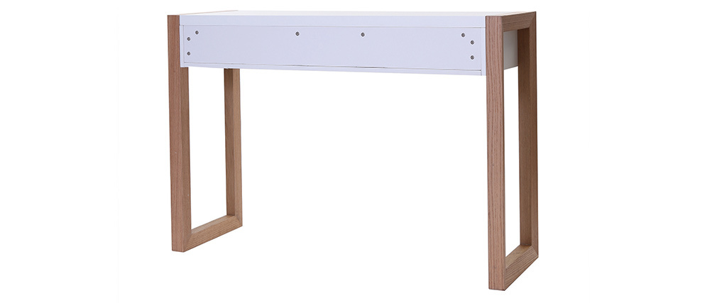 Consolle design colore bianco finiture quercia L120 cm ARMEL
