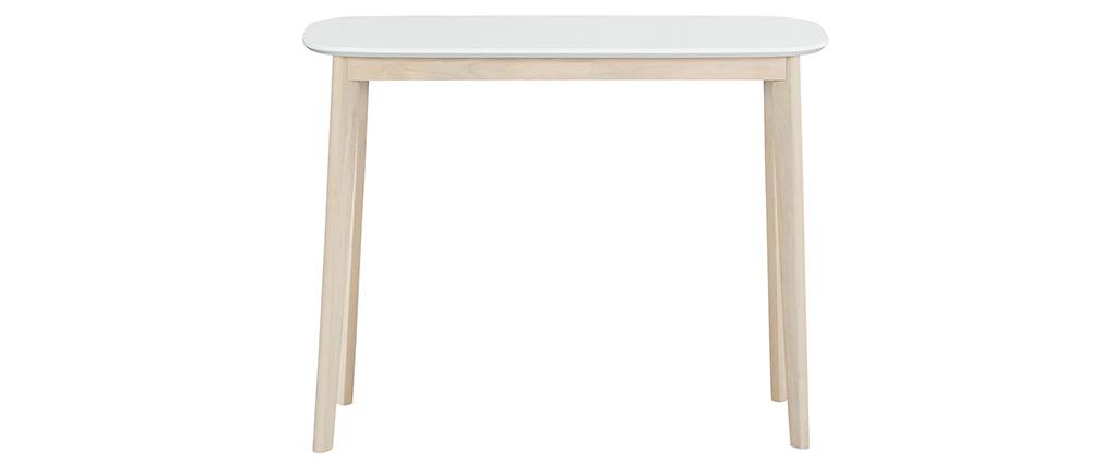 Consolle scandinava bianca e legno chiaro LEENA