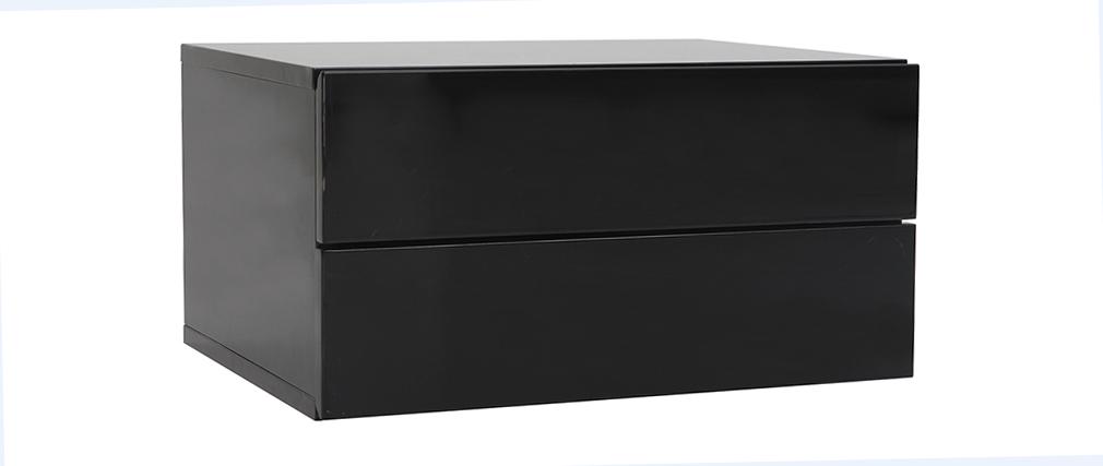 Contenitore design nero 2 cassetti MAX
