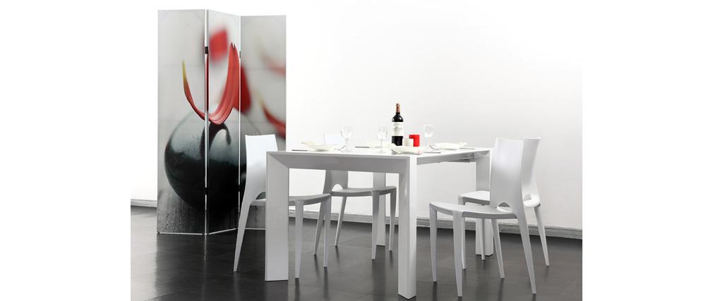 Coppia di 2 sedie design bianche lyza   miliboo