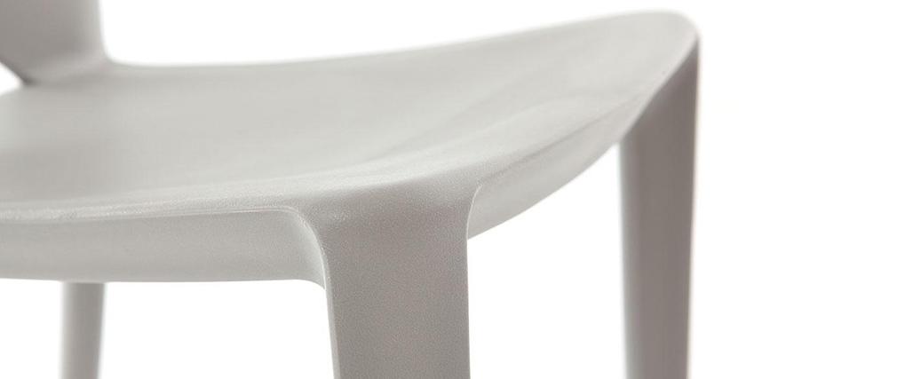 Coppia di 2 sedie design grigie lyza   miliboo