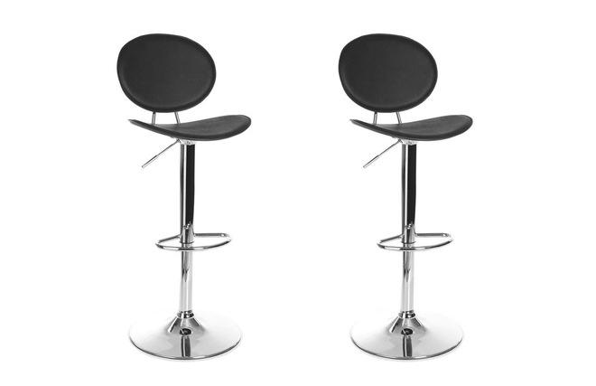 Coppia di 2 sgabelli da bar cucina design color cioccolato ovaly