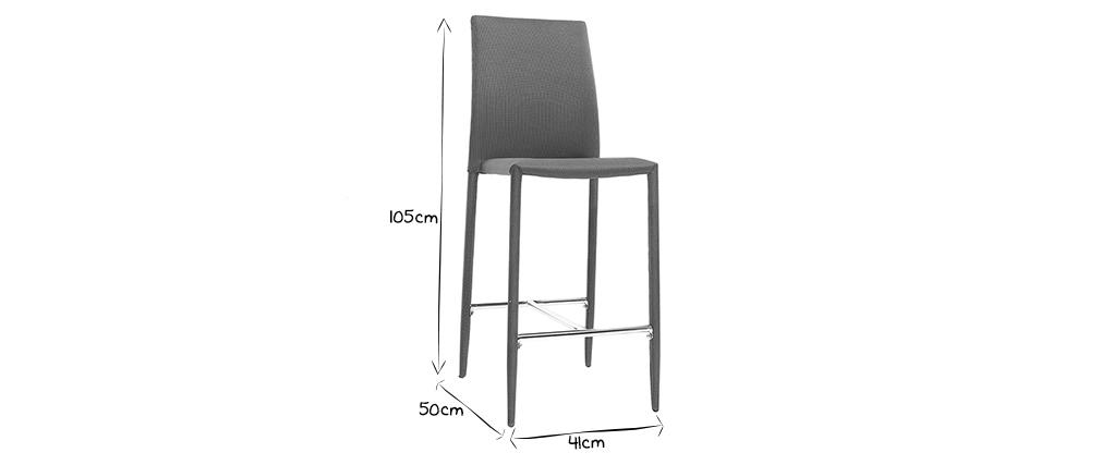 Coppia di 2 sgabelli / sedie da bar design grigio antracite TALOS
