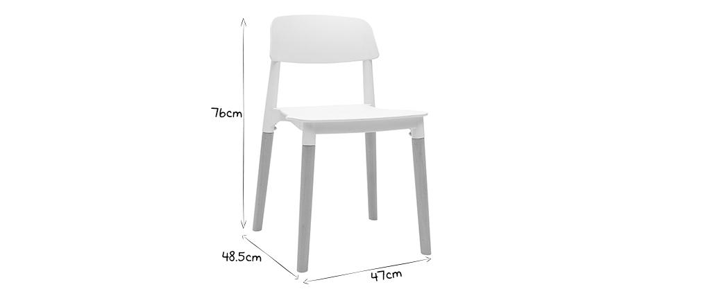 Coppia di sedie design scandinave bianche GILDA