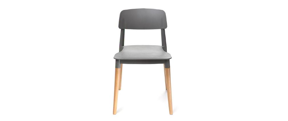 Coppia di sedie design scandinave grigie GILDA