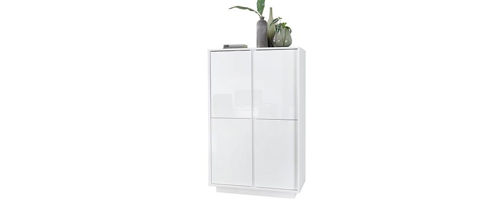 Credenza balta di design bianca laccata lucida COMO