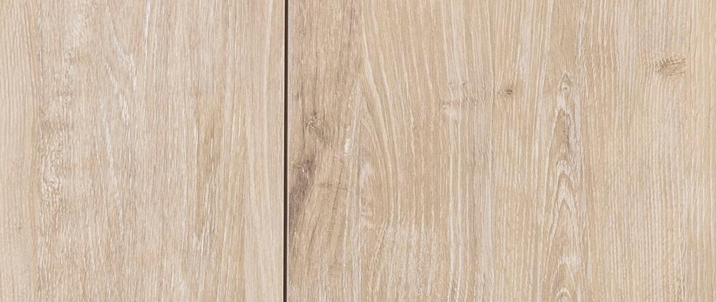 Credenza bassa industriale metallo e legno sbiancato TRESCA