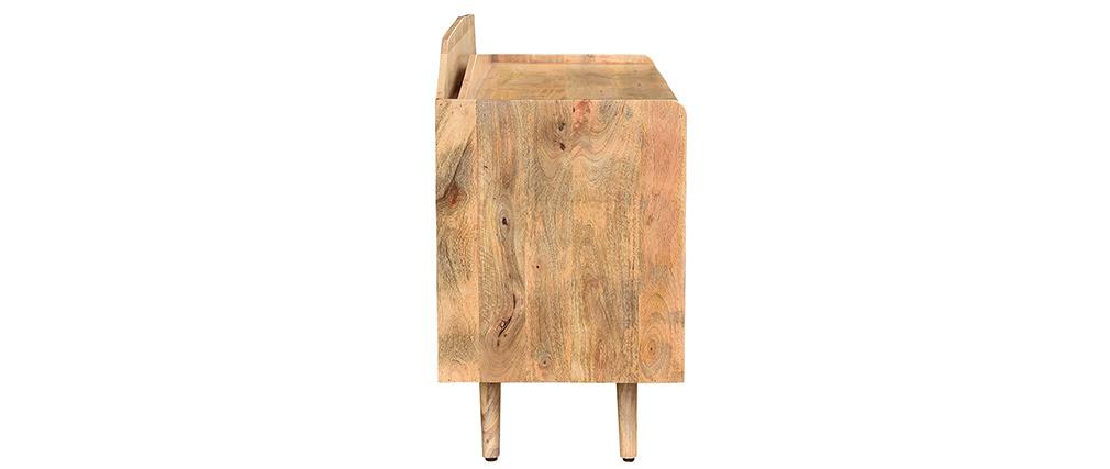 Credenza in legno massello di mango porta vinili MATAHARI
