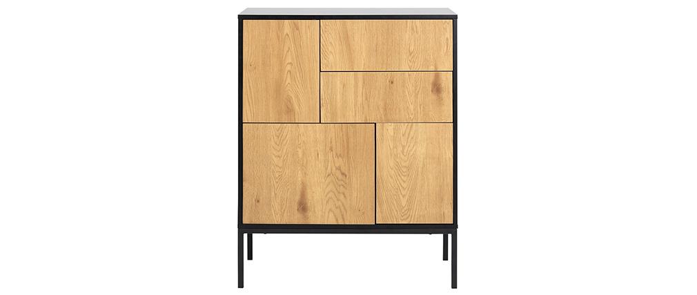 Credenza industriale 5 porte metallo legno TRESCA