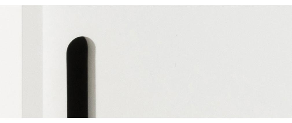 Credenza scandinava bianco opaco con ante scorrevoli SNOOP