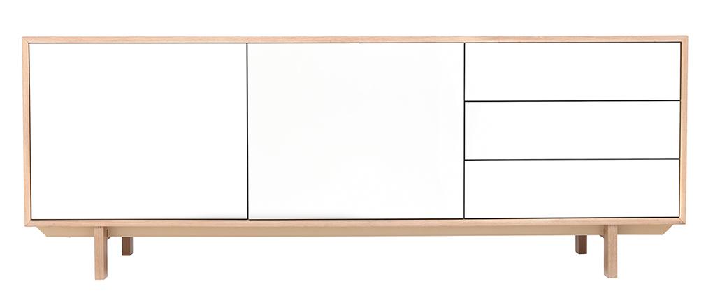 Credenza scandinava in legno Bianco 195 cm SID