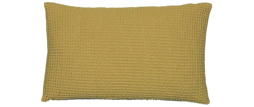 Cuscino in cotone lavato color anice 30 x 50 cm YAM