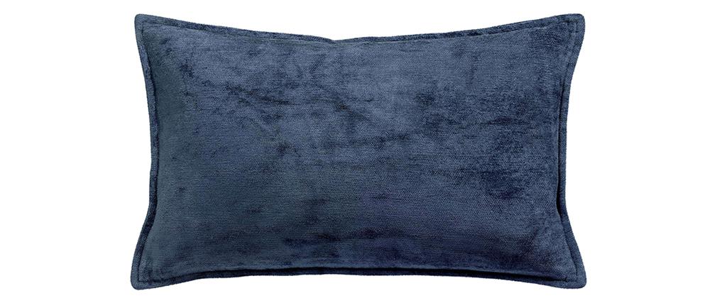 Cuscino in velluto blu 30 x 50 cm ALOU