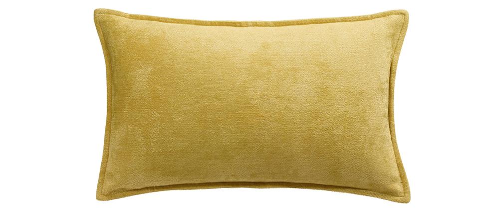 Cuscino in velluto giallo curry 30 x 50 cm ALOU