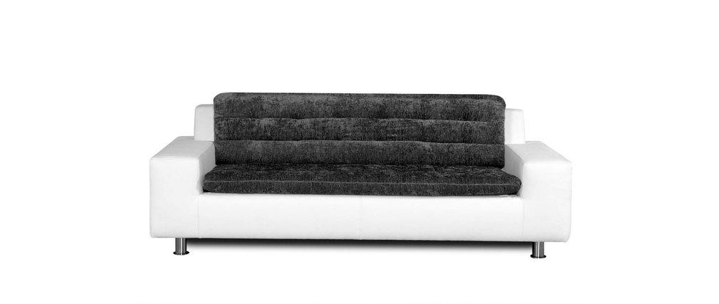 Divano 2-3 posti design grigio e bianco KINLEY - Miliboo