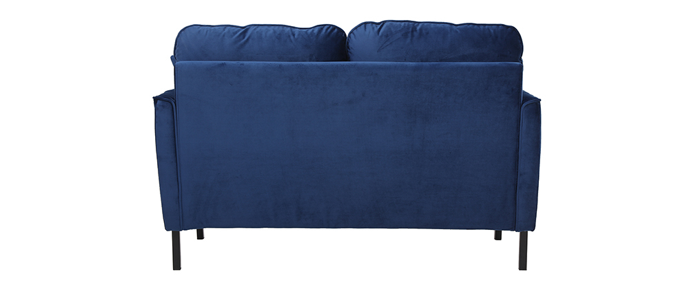 Divano 2 posti in velluto blu BEKA