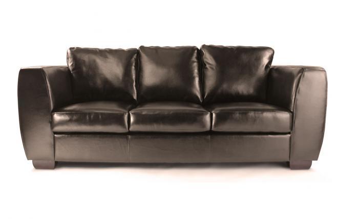 Divano 3 posti chicago marrone pelle di bufalo miliboo for Migliore marca divani