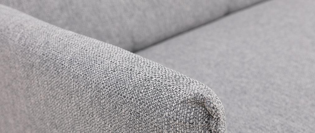 Divano 3 posti in tessuto grigio chiaro HIBA