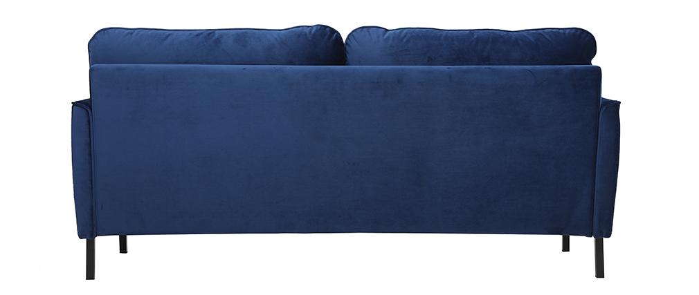 Divano 3 posti in velluto blu BEKA