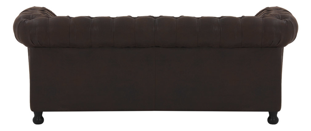 Divano 3 posti vintage marrone CHESTERFIELD