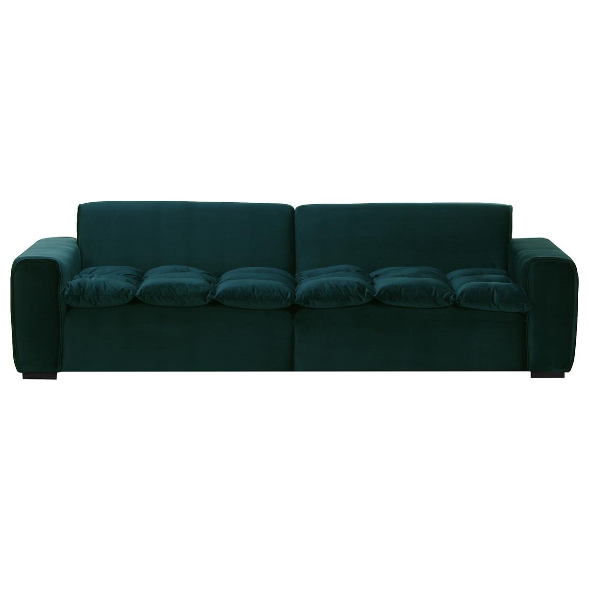 Divano a 3 posti design in velluto Verde MELLOW