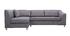 Divano angolare convertibile grigio (angolo sinistro) MIAMI