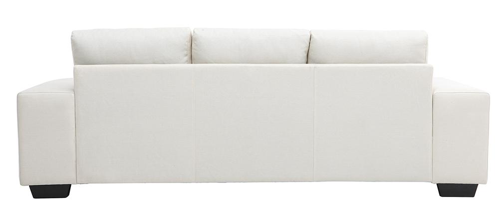 Divano angolare design in tessuto naturale 3 posti DEAUVILLE