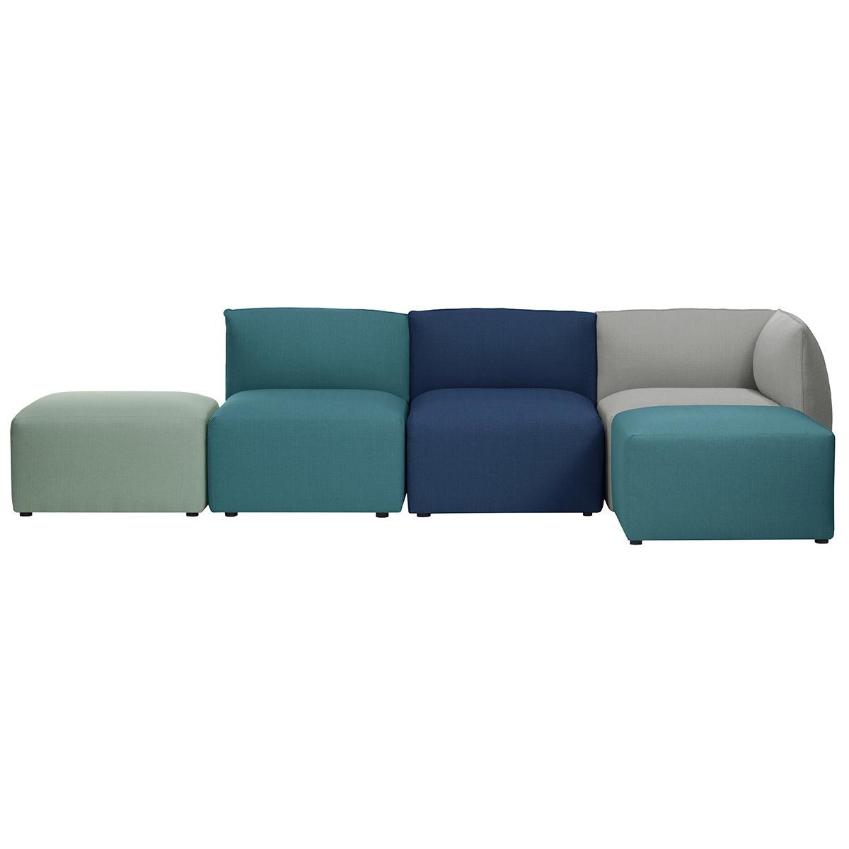 Divano angolare design modulabile multi-colore 4 posti MODULO