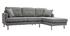 Divano angolare destro scandinavo grigio chiaro CODDY