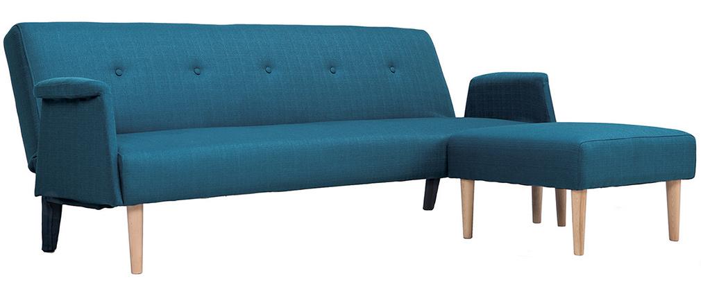 Divano angolare reversibile design blu OSCAR