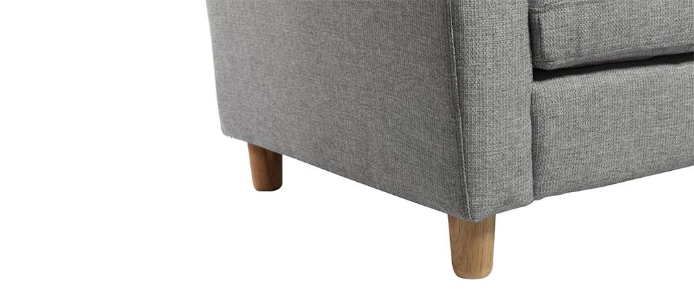 Divano angolare reversibile design grigio ALAMO