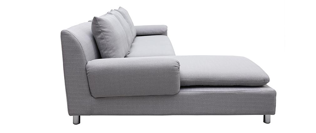 Divano angolare reversibile design grigio chiaro BRASILIA