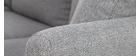 Divano angolare scandinavo a 5-6 posti in tessuto Grigio chiaro OSLO