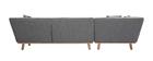 Divano angolare sinistro 5 posti grigio chiaro STUART