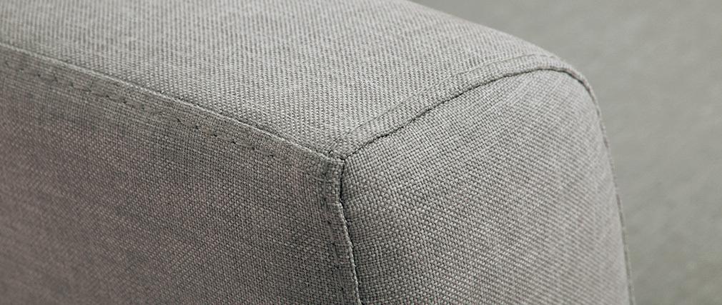 Divano convertibile 2 posti in tessuto grigio chiaro LEON