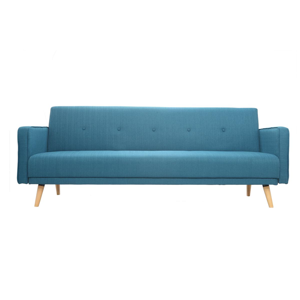 Divano convertibile 3 posti design scandinavo blu ULLA
