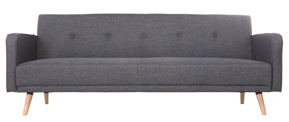 Divano convertibile 3 posti design scandinavo grigio scuro ULLA