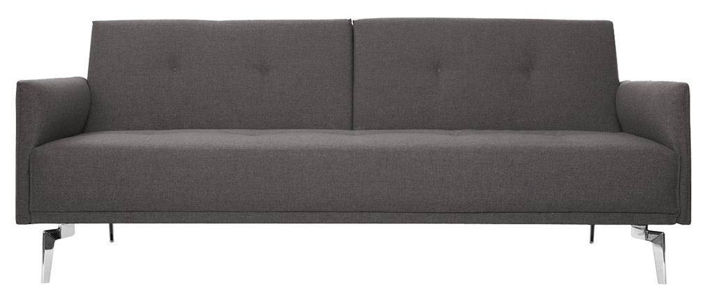 Divano convertibile design 3 posti grigio chiaro ELIN