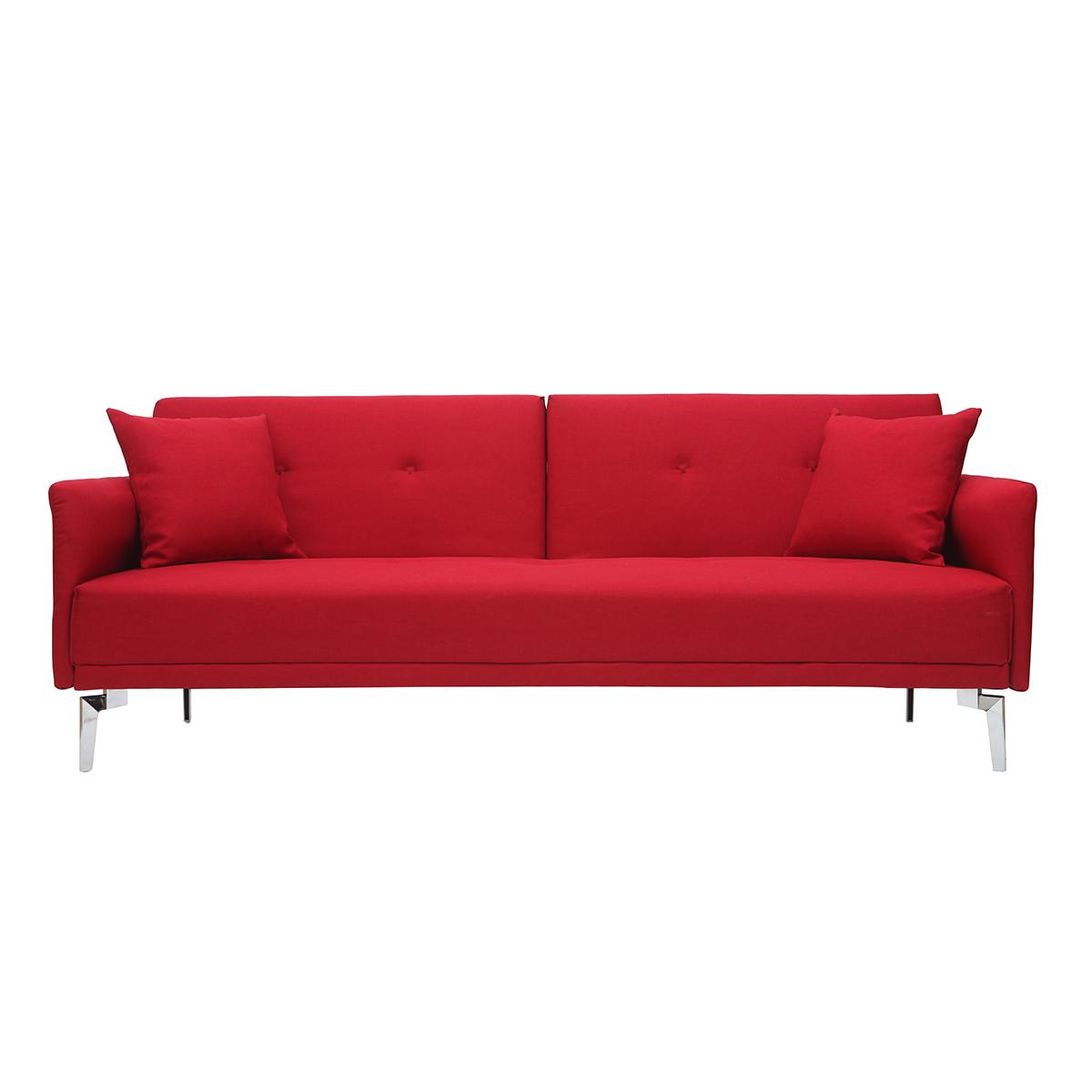 Divano convertibile design 3 posti rosso ELIN
