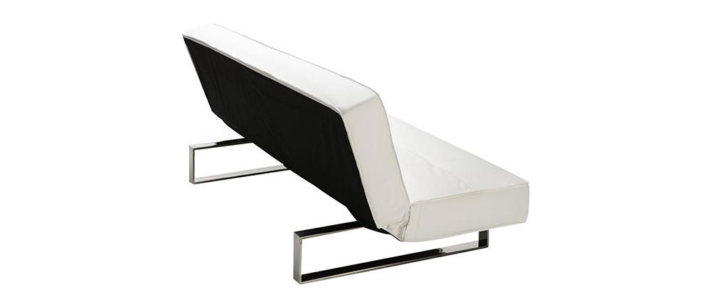 Divano convertibile design bianco charleston   miliboo