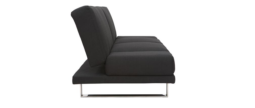 Divano convertibile design nero ATLANTA
