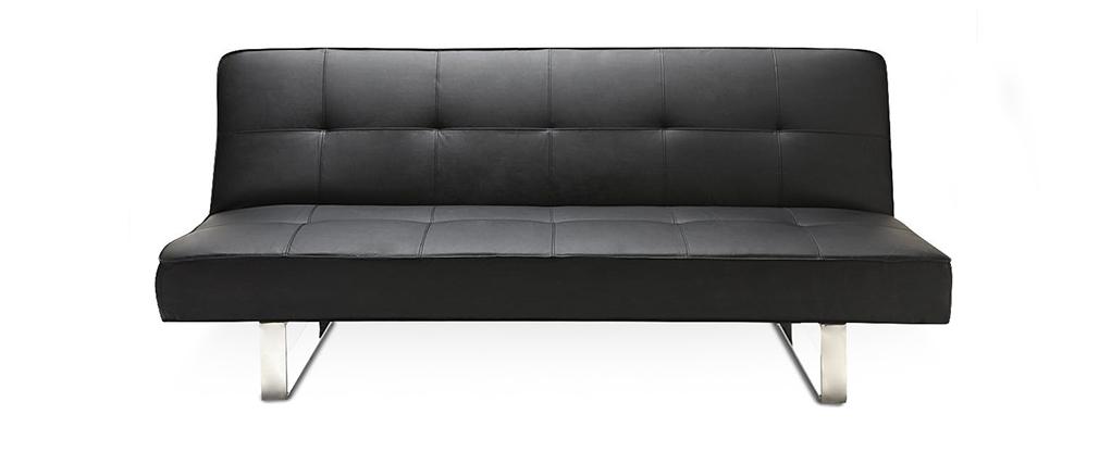 Divano convertibile design nero CHARLESTON